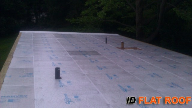 PVC Roof instalation in Wilton CT
