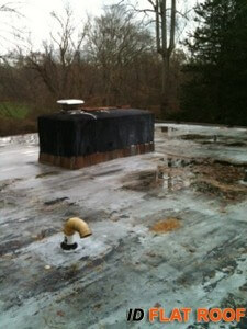 PVC Flat Roof Installation in New Canaan, CT