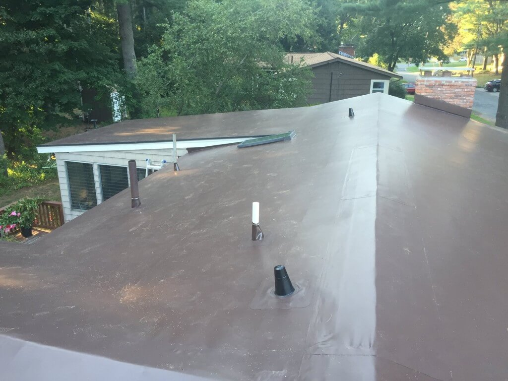 PVC Membrane Installation on Low Pitch Roof in Wayland, MA
