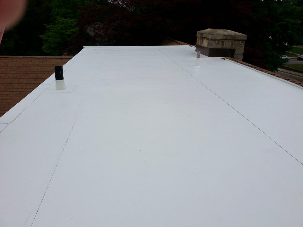 PVC Membrane Installation on Shed Dormer Flat Roof in Wellesley, MA