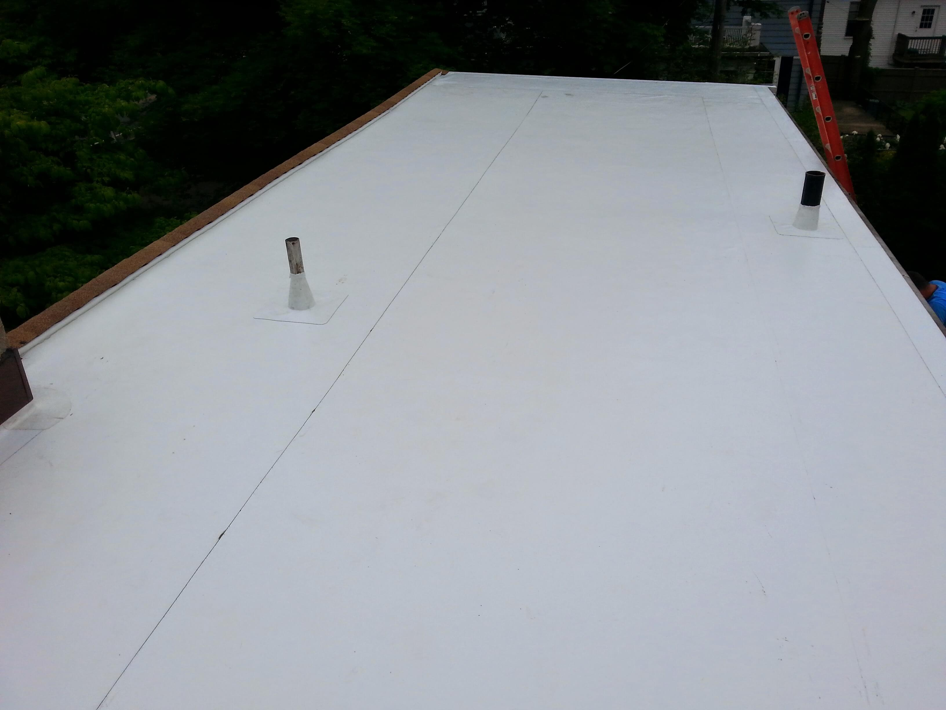 Pvc Membrane Installation On Shed Dormer Flat Roof In