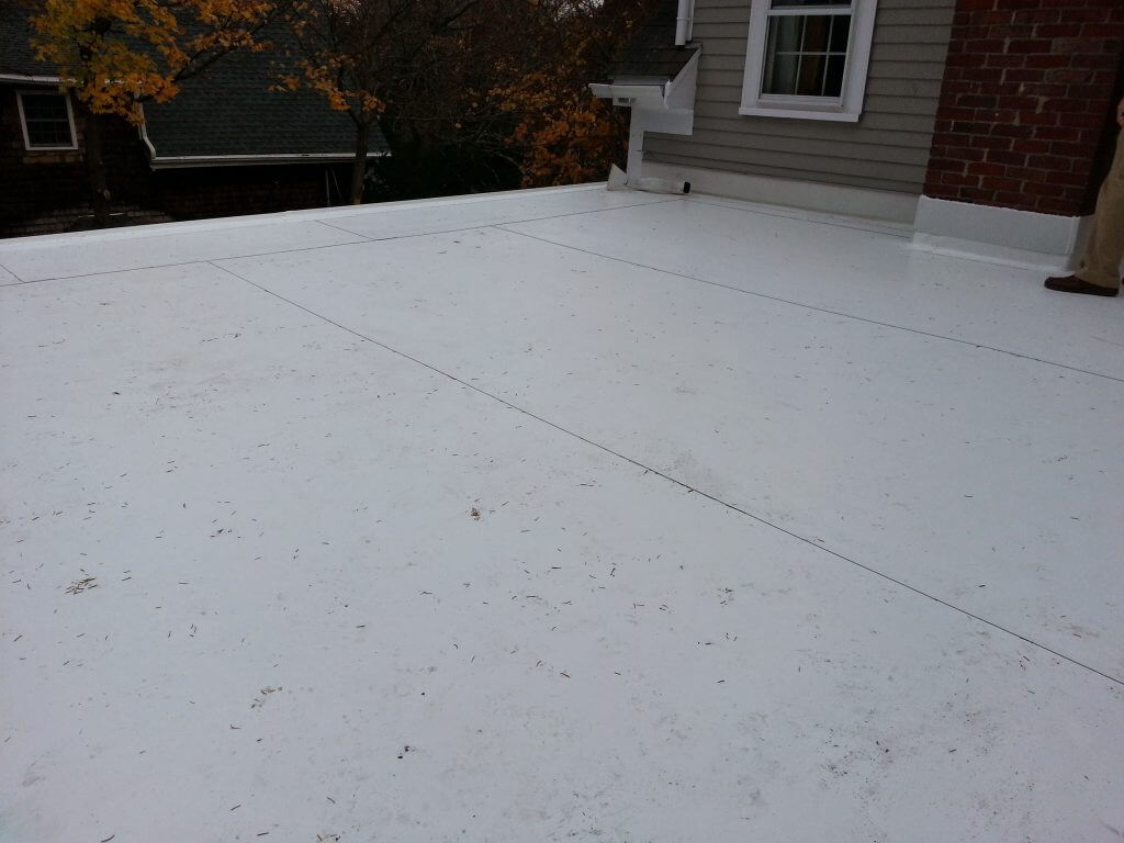 PVC Roof Installation Under Floating Wooden Deck in Sudbury, MA